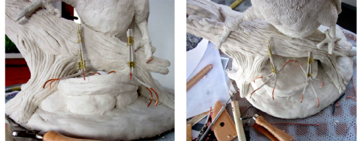 Red Tail Foot Armatures
