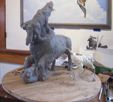 bison-wolf-armature